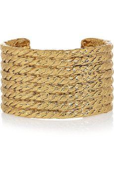 Yves Saint Laurent   More here: http://mylusciouslife.com/wishlist-gold-cuffs/
