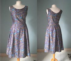 Vintage 1950s Horrockses Cotton Day Dress Small by VioletsAtticVintage #horrockses #violetsattic
