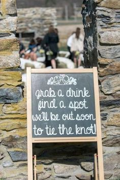This funny and sweet welcome wedding sign will put a smile on your guests faces. #weddingsigns #chalkboardsign #planning