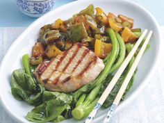 Grilled sweet and sour pork, pork recipe, brought to you by recipes+