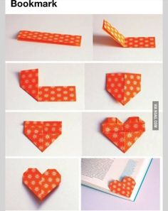 DIY love heart bookmark