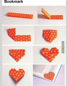 DIY love heart bookmark