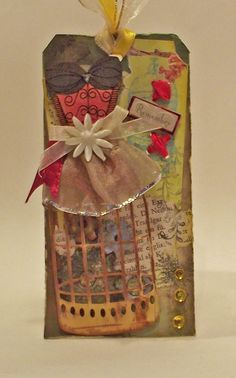 Tag with Crafty-Emblies corsette School Parties, Advent Calendar, Corset, Shabby Chic, My Arts, Card Making, Gift Wrapping, Scrapbook, Crafty