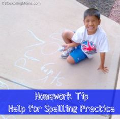 If homework stresses you out then check out this homework tip!  Help for Spelling Practice that your kids really want to do! #backtoschool