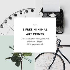 Free Minimal Art Collection | Free Print | Freebie Printable | Free Art Printable | Home Printable