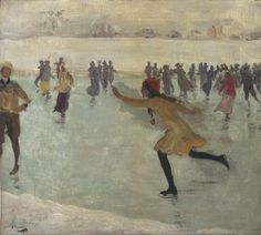 the skater. Sir John Lavery 1912