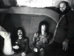 Bonzo, Jimmy and Peter Grant on the Starship Pittsburgh-July 24, 1973