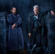 "The sequel to the ""Harry Potter"" spinoff ""Fantastic Beasts and Where to Find Them"" will be all about Gellert Grindelwald and Dumbledore, played by Jude Law. Johnny Depp, Harry Potter More, Harry Potter Actors, Gellert Grindelwald, Crimes Of Grindelwald, Jude Law, Fantastic Beasts And Where, Movie Releases, New Poster"