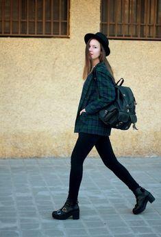 @roressclothes closet ideas #women fashion School Style Outfit with Plaid Blazer