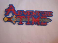 Hama Bead Adventure Time Logo by OisinHamaDesigns