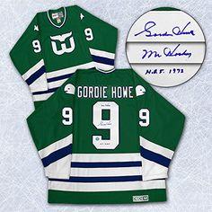 Gordie Howe Hartford Whalers Autographed Last Game Retro CCM Hockey Jersey * Visit the image link more details.