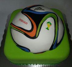 Brazuca football soccer ball cake by Cake Boutique México