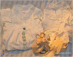 Weiße Wäsche aus vergangener Zeit