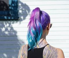 💜 Check out @kristenxleanne 's fresh hair done by @hairstylistnicolerene 💜 Phot by @theryanmorgan • Colors used: Purple Rain, Aquamarine, Virgin Pink + Arctic Mist to dilute www.ArcticFoxHairColor.com