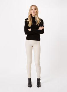 f4bc9c14aab Steffi Ecru Super High Waist Jean Denim Outfit