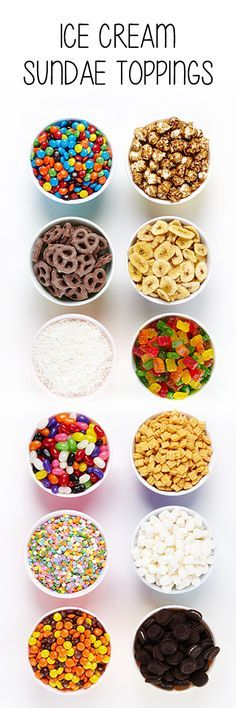 From candy, popcorn and coconut flakes to cereal, banana chips and marshmallows, we have rounded up the best toppings for ice cream. #BiteMeMore #IceCream
