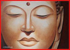 Buddha Face - Indonesian Artist Acrylic Painting