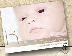 baby announcement card DIY by SBStudioDesign on Etsy