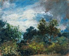 John Constable - Study of Sky and Trees (1821)