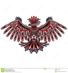 Aztec Eagle Tattoo, Small Eagle Tattoo, Eagle Tattoos, Wing Tattoos, Haida Kunst, Haida Art, Native American Tattoos, Native American Symbols, Tatuagem Haida