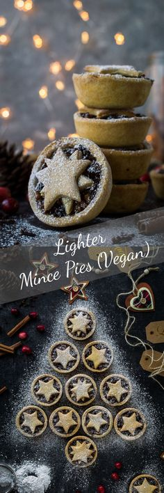 Lighter mince pies - you can enjoy a festive mince pie even if you are trying to cut down on the sweet stuff as these ones have no added sugar, are lower in calories and vegan too! #Christmas #vegan #baking #refinedsugarfree