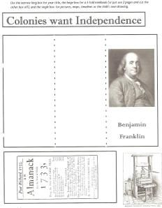Free Notebook pages to go along with Sonlight History:  Blog American History Notebook 001