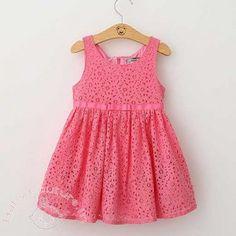 Rosebud Pink Sleeveless Summer Kids Dress