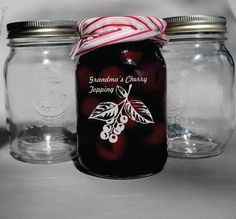 Beautifully and elegantly custom engraved mason jars. The font is engraved deep into the glass via sandblast technique - the best engraved technique available. Home Canning, Canning Jars, Canning Recipes, Personalized Mason Jars, Stag And Doe, Dehydrator Recipes, Custom Glass, Jar Storage, Custom Engraving
