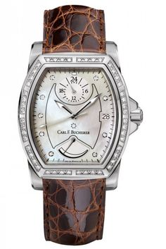 Carl F. Bucherer 00.10612.08.74.11 Patravi T-24 - швейцарские женские часы - наручные, стальные с бриллиантами, белые