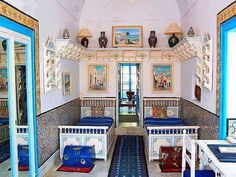 Vintage Tunisian Guest Room