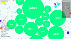 joker This score is made in a public server and the Agar.io mod is used to monitor the mass of  - joker saved mass
