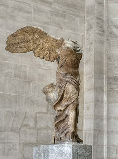 La Victoire de Samothrace, Louvre, Paris    the story of 'her escape' from the louvre when the nazis were invading is amazing.