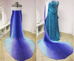 This Frozen Prom Dress Mimics the Ice Queen Elsa #summerstyle #summerfashion trendhunter.com
