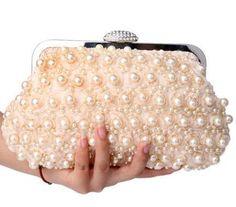 Women Wedding Party Pearl Decorated Fashion Rhinestone Bag