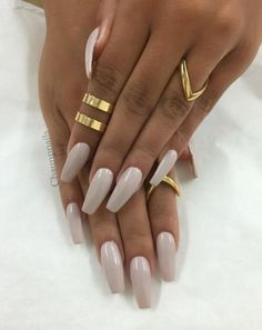Shared by Emma Rahić. Find images and videos about beauty, nails and rings on We Heart It - the app to get lost in what you love. Claw Nails, Toe Nails, Pretty Nail Colors, Pretty Nails, Perfect Nails, Gorgeous Nails, Milky Nails, Nail Ring, Ballerina Nails