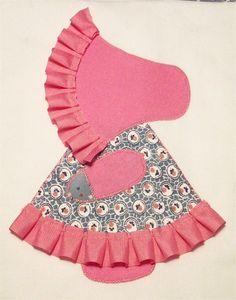 Sunbonnet Sue - I like this ribbon detail on her bonnet & skirt.
