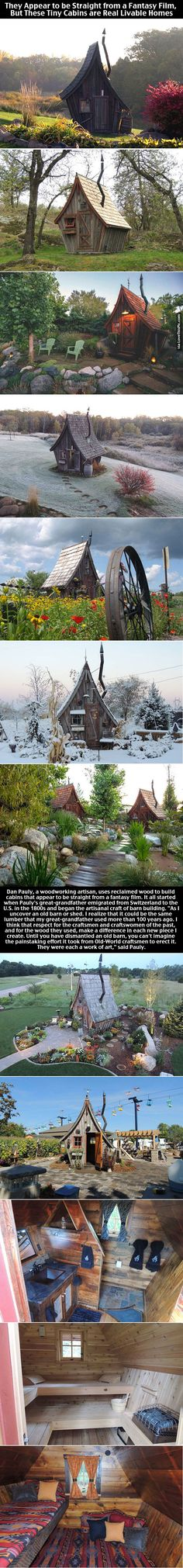 They Appear to be Straight from a Fantasy Film, But These Tiny Cabins are Real Livable Homes home architecture interesting home ideas home design tiny homes architecture ideas architecture projects architecture and design