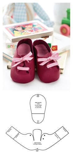 ideas diy baby shoes english for 2019 Doll Shoe Patterns, Baby Shoes Pattern, Baby Patterns, Dress Patterns, Girl Doll Clothes, Girl Dolls, Baby Dolls, Barbie Clothes, Felt Baby Shoes