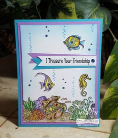 #Cre8time for friendship and #underthesea treasures. #Stampendous #treasurechest #sealife