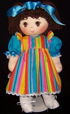 Miss Middlemiss series - Rich Little Rag Dolls. Handmade Rag Dolls by Kaye Keene