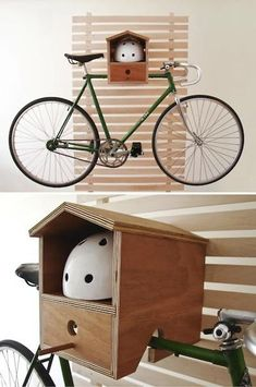 Creative bike shelf