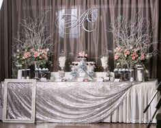 Зимняя свадьба, сладкий стол