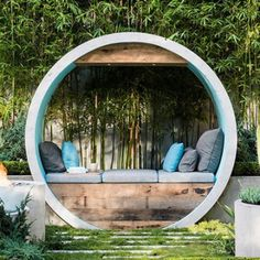 This Award Winning Garden Design Uses Concrete Pipes To Create Seating A Water Feature And A ...