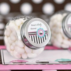 Personalized Candy Jars - Cupcake Party at WeddingFavors.org