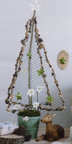 chicken wire christmas tree - Google Search
