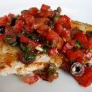 Italian Food Forever » Sicilian Swordfish With Fresh Tomato Relish