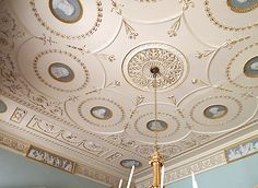 The Library Ceiling - Berrington Hall - Leominster - Herefordshire - England