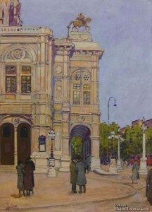 Vienna Opera House Corner Scene