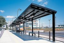 LIXIL Archiscape アーキスケープ | 施工事例 | 稲毛北第二バス停 Covered Walkway, Bus Stop, Pedestrian, Public Transport, Canopy, Shelter, Transportation, Design Ideas, Exterior