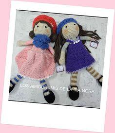 muñecas crochet https://www.facebook.com/LosAmigurumisDeLaTiaNora/